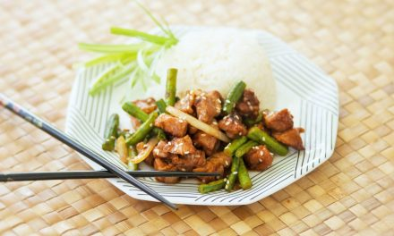 Garlic Pork and Long Bean in Black Bean Sauce