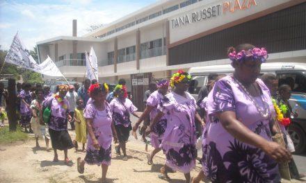 March in Port Vila this morning against killings