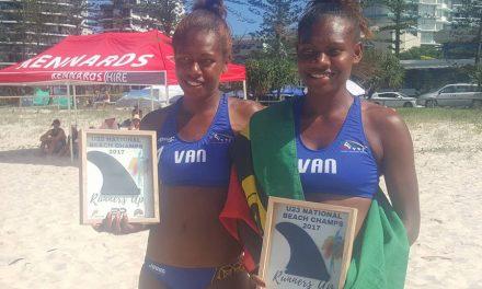 Vanuatu wins silver in U23 Australian National Beach Volleyball Championship