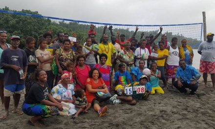 Volley4Change partners for Cultural awareness during Lini Day