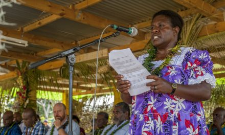 Vanuatu Market Vendors Celebrate 'Changing World of Work' on International Women's Day