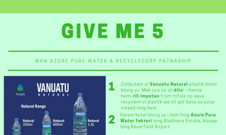 "Azure Pure Water launches ""Give me 5"" recycling program."