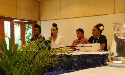 Gigi Baxter hosts side event at 13th Pacific Women's Triennial, Suva, Fiji.