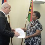 Merilyn Tahi receives Commonwealth Award