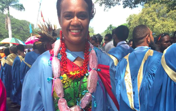 Dr. Annette Garae awarded the 'Best Performing Post Graduate Diploma in Child Health student' at the University of PNG Medical Faculty