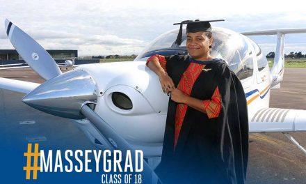 Air Vanuatu's first female pilot to fly internationally on a new ATR aircraft graduates from Massey
