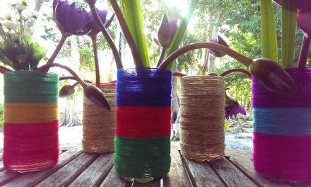 Plastic Bottle Flower Vases