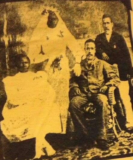 Emma Ambertal (standing) Willliam Nagas (seated) Thomas Nagas (standing) Hope Nagas (seated) Hope's parents wedding