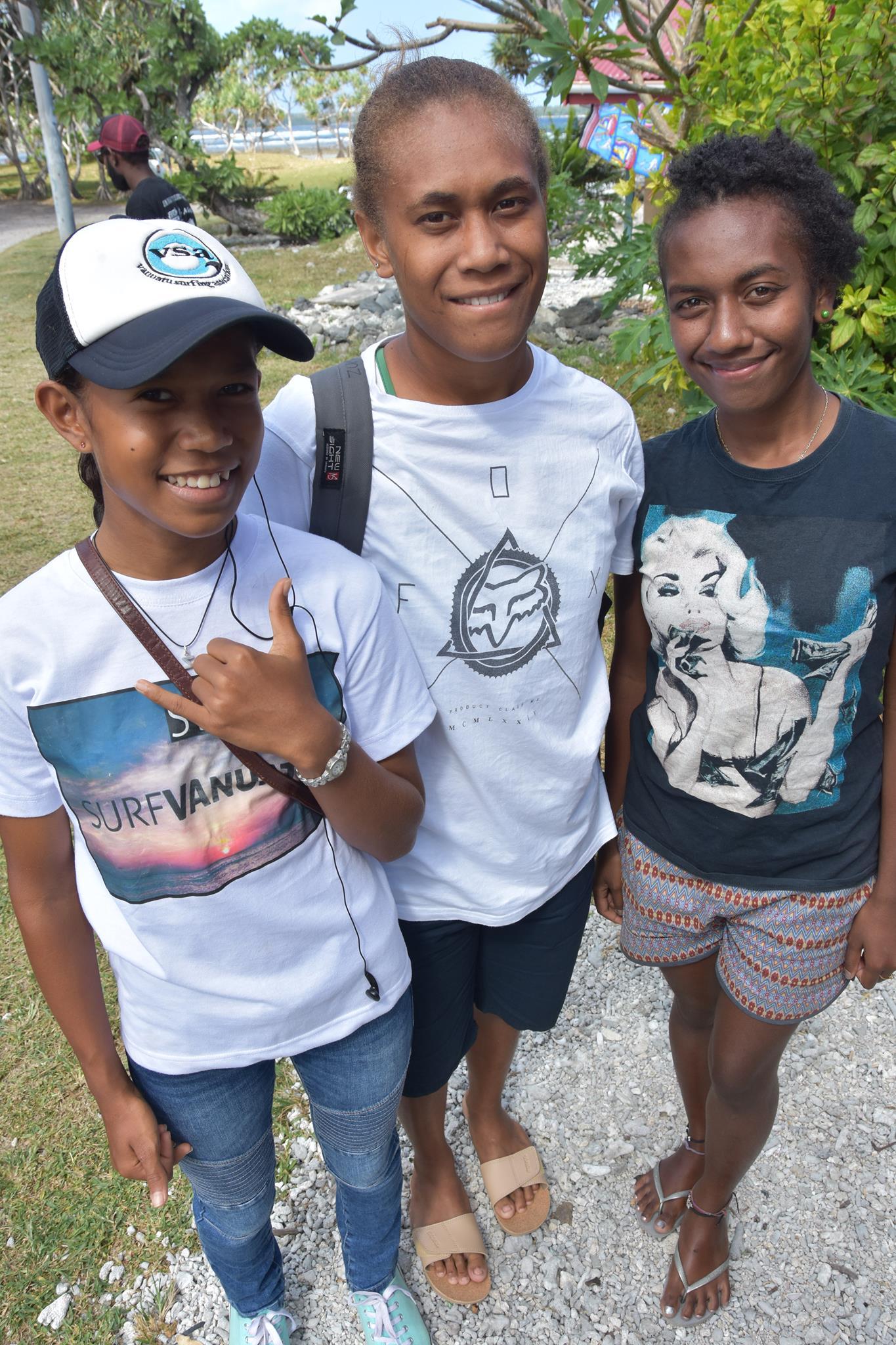 surfer girls in vanuatu