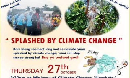 Climate Action Splash Campaign – Thurs 27th Oct