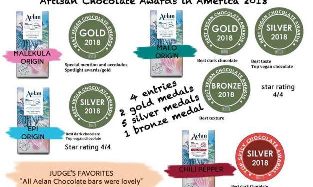 Aelan Chocolate wins International Chocolate Awards in all categories!