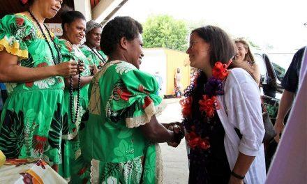Vanuatu Market Vendors welcome Canada's Minister for Justice