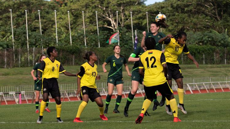 Junior Matildas humble Vanuatu U19 with 13 unanswered goals