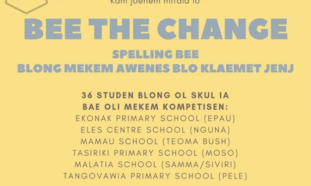 "Shefa Spelling Bee ""Bee the Change."""