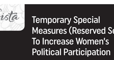 Temporary Special Measures (Reserved Seats) To Increase Women's Political Participation