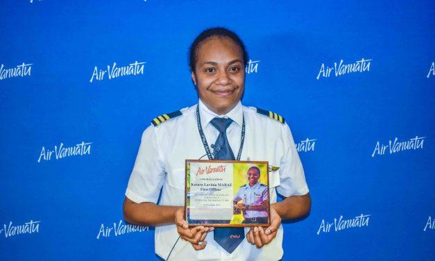 Katura becomes the First Ni-Vanuatu Female Pilot operating a jet aircraft