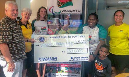 Kiwanis Melbourne Cup Ladies donate Vt300,000 to Vanuatu female Para-athletes