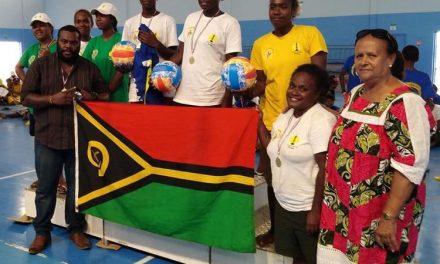 Vanuatu beach volleyball women youth team wins Yeiwene Cup
