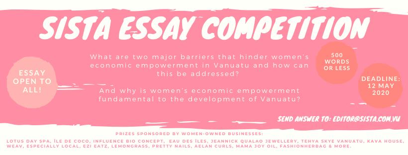 Sista Essay Competition 2020 Vanuatu